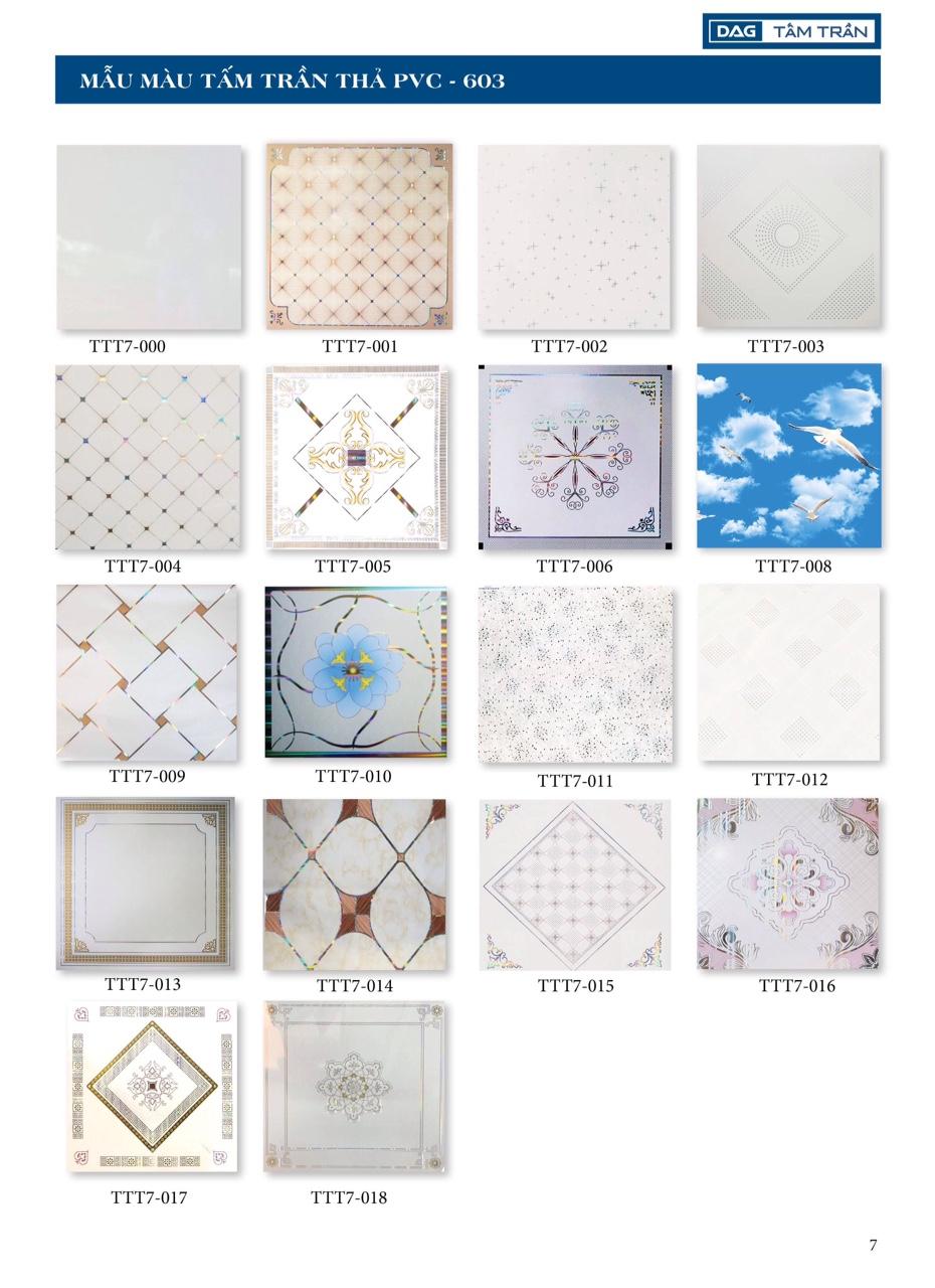 mẫu tấm trần nhựa pvc